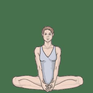 Позы йоги для сексуальности: поза Бабочки (Баддха Конасана)