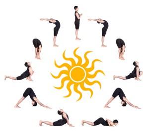 Позы йоги для иммунитета: комплекс Приветствие Солнцу (Сурья Намаскар).