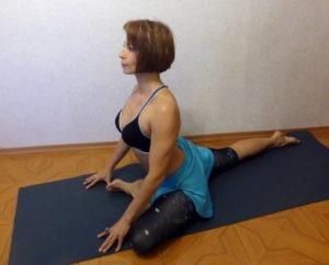 Мини-комплекс йоги для футболистов. Поза Голубя