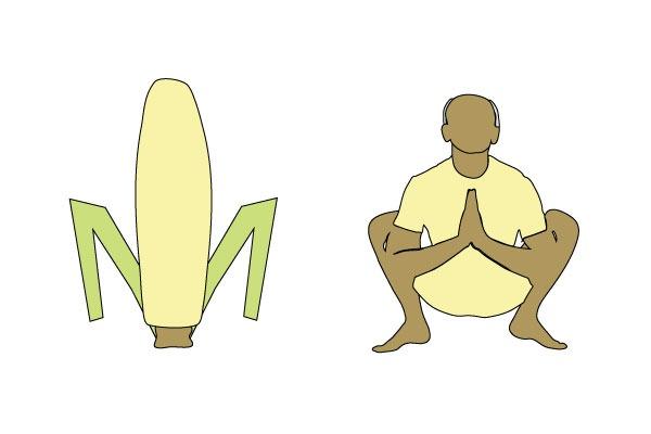 Йога ко Дню благодарения: поза Початка кукурузы