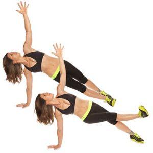 Боковая поза Планки с укреплением внутренних мышц бедер