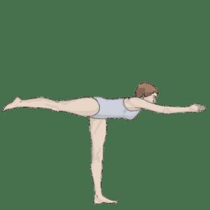 Вирабхадрасана III (поза Воина III) для профилактики гипермобильности тазобедренных суставов